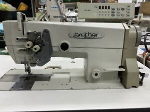 Brother Lt2 b875 907 Industrial Sewing Machine Compete With Table And Motor