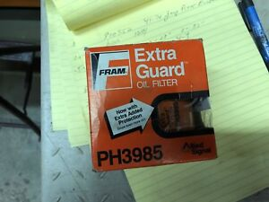 Vintage Fram Ph3985 Oil Filter Extra Guard