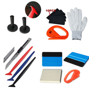 Car Vinyl Wrap Tools 3m Felt Squeegee Carbon Fiber Knife Blade Window Tint Kit