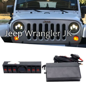 Jeep Wrangler Jk 2007 2018 Overhead 6 Gang Switch Panel With Rocker Switches