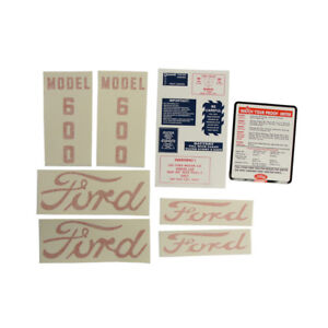 D 6005557 Decal Set Fits Ford Tractor 600 1955 To 1957