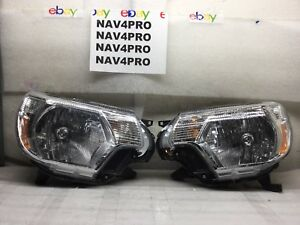 2012 2013 2014 Toyota Tacoma Halogen Projector Head Light Lamp Pair H543