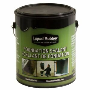 Liquid Rubber Foundation Sealant basement Coating 1 Gallon Black