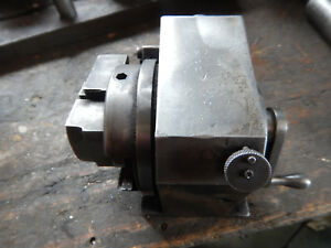 Older Small Spinning Grinding Fixture With V Block Rough Condition For Parts