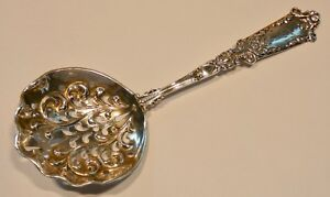 Blackington Sterling Silver Art Nouveau Pierced Bon Bon Spoon