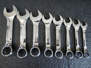 Craftsman Professional 8pc Metric Stubby Combination Wrench Set Vv Made In Usa