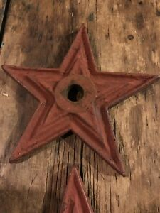 Antique Cast Iron Star 9 1800 S Architectural Civil War Era Vintage Rustic