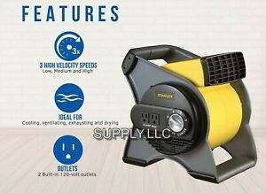 Commercial Air Mover Blower Carpet Dryer 310cfm Wet Floor Drying Industrial Fan