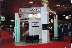 Ultimate Trade Show Booth Double Deck Meeting Area Includes Semi Trailer