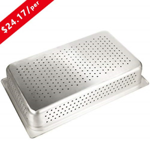 4 Deep Perforated Steam Table Pan Full Size kitma 14 Quart Stainless Steel Gn