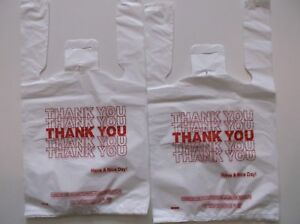 800 Ct plastic Shopping Bags t Shirt Type Grocery white Small Size