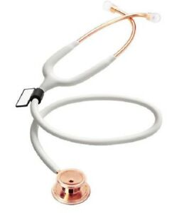Stethoscope Mdf Cardiology Pediatric Neonatal Stainless Steel Dual Head Rosegold