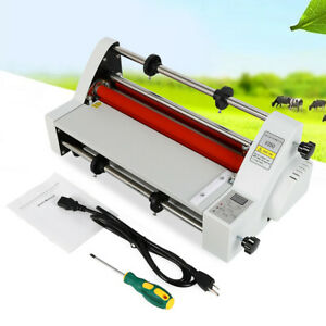 110v 13 V350 Laminator Hot Double Side Roll Laminating Machine 4 Rollers