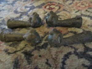 Antique Piano Seat Claw Feet Glass Balls Furniture Legs Restoration Hardware