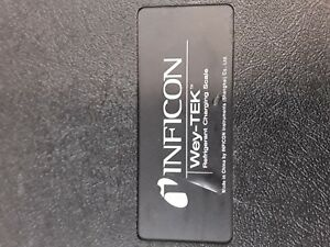 Inficon Wey tek 713 202 g1 220 Lbs 100 Kg Refrigerant Charging Ac Scale W case