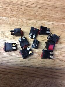 Lot Of 10 Arcolectric H8553vbnaf Rocker Switches free Shipping