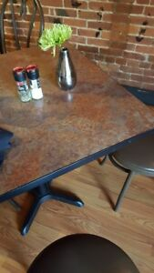 5 Tables 19 Wood Chairs Seating Dining Commercial Restaurant Deli Pizza Used