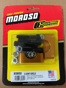 New Moroso U joint Girdle For Chevy 12 bolt W U bolts Gold Anodize Alum 85800