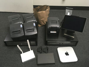 Ncr Silver Pos System Complete W Ipad Mac Mini Routers