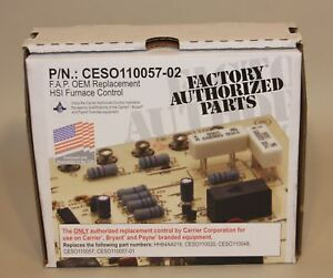 Carrier Bryant Payne Ces0110057 02 Icm281 Furnace Control Circuit Board New