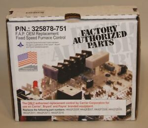Carrier Bryant Payne 325878 751 Fixed Speed Furnace Control Circuit Board New