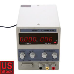 Us Plug Power Supply Adjustable Precision Variable Lab Digital 3a 15v 110v Dc