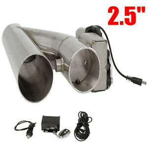 Universal 2 5 Electric Exhaust Downpipe Cutout E Cut Out Valve With Remote
