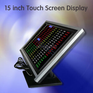 15 Touch Screen Led Touchscreen Monitor Retail Kiosk Restaurant Bar Sl 2018 New