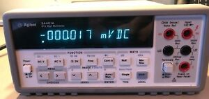 Hp Agilent 34401a Digital Multimeter 6 1 2 Digit gpib Rs232 W Leads