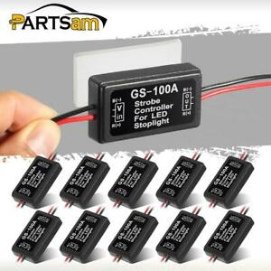 10pcs Gs 100a Strobe Controller For Motorcycle Car Trucks Led Brake Light Flash