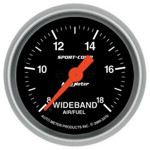 Auto Meter Sport Comp 52mm Full Sweep Elect Analog Wideband Air Fuel Ratio Gauge