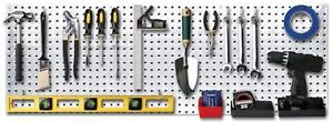 1 4 Metal Diamond Plate Peg Board Tool Hanger Garage Shop Shed Wall Organizer