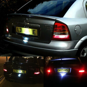 For Vauxhall Opel Astra G Mk4 18led White 6000k Led License Plate Light Lamp New