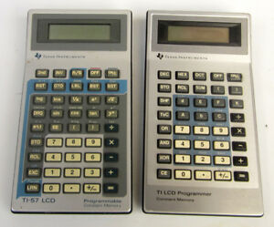 Vintage Texas Instruments Ti 57 Lcd Programmer Calculators Lot as Is