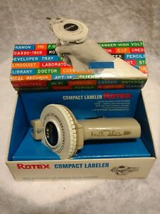 Rare Vintage Porter Goodman The First Rotex Label Maker With Box Tape 1964
