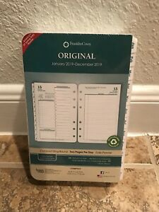 Franklin Covey 2019 Planner Refill White Tabs Compact 2 Pages Per Day 4 25 x6 75