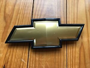 Chevrolet Gold Black Bowtie Emblem Badge Logo