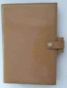 Filofax Soho Personal Size Planner Patent Leather Suede Lining New Gorgeous