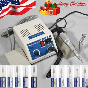 Dental Lab Marathon 35k Rpm Handpiece Electric Micro Motor 10 drills Burs Mai M