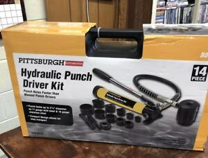 Pittsburgh 14 Piece Hydraulic Punch Knockout Driver model 96718 Free Shipping