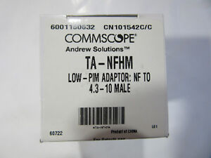 Commscope Andrew Ta nfhm Low pim Female To 4 3 10 Male New In Factory Box