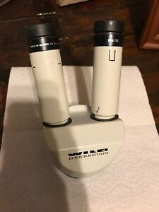 Wild Heerbrugg Top Piece Microscope With Zoom Base And 10x 21 Eyepieces
