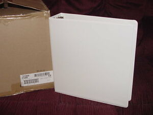 6 Avery Dennison 3 3 ring Round White Binder Clear View Pocket Inside 21088 New