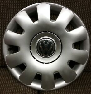 1 Vw Volkswagen Jetta Golf 15 61538 Oem Hubcap Wheel Cover 1j0 601 147 P Oem