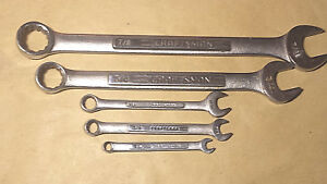 Lot 5 Used Craftsman Combination Wrenches 1 4 7 8 Vgc