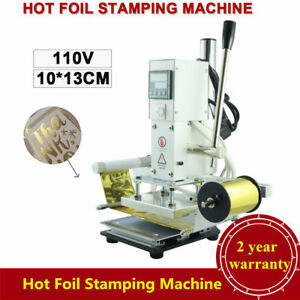 10 13cm Digital Hot Foil Stamping Machine Automatic Leather Press Embossing Set