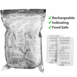 160 Packets 2 Gram Silica Gel Desiccant Non Toxic Moisture Absorber Dehumidifier