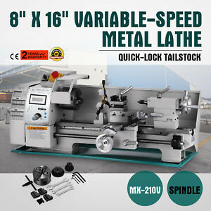 8 X 16 variable speed Mini Metal Lathe Steady Rest Bench Top Processing Pro