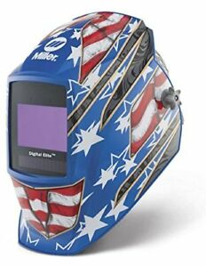 Auto Darkening Welding Helmet Blue Digital Elite 3 5 To 8 8 To 13 Lens Shade