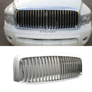 Front Grille Fit 06 08 Ram 1500 06 09 2500 3500 Pickup Abs Chrome Vertical Style